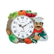 Relógio de parede cozinheiro redondo