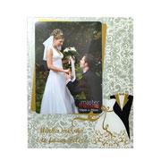 Porta retrato casamento 15x20 cm