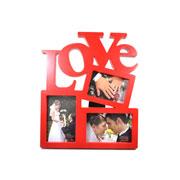 Porta retrato love para 03 fotos