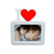 Porta Retrato de plástico I Love 10X15cm