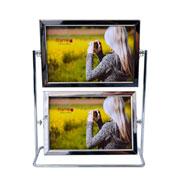 Porta retrato metal giratorio duplo para 04 foto 15x10 cm