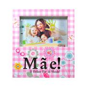 Porta retrato LED mãe flores 15x10 cm