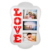 Quadro Love para 03 fotos 40 cm
