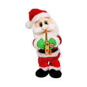 Papai noel musical movimento saxofone 35 cm