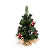 Enfeite de árvore Pinhas e azevinhos 41 cm