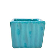 Cachepot de ceramica quadrado tifani 08x06 cm