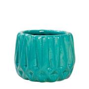 Cachepot de cerâmica Frisado tifani 08x07 cm
