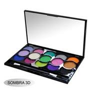 Paleta de sombras 3D 15 cores