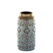 Vaso em cerâmica indigo 7x14 cm