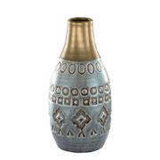 Vaso em cerâmica indigo 8x16,5 cm