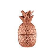 Abacaxi cobre em cerâmica 21x9 cm