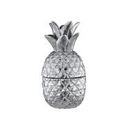 Abacaxi prata em cerâmica 21x9 cm