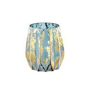 Vaso azul em vidro 13 cm
