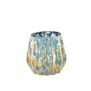 Vaso azul em vidro 10 cm
