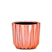 Cachepot em cerâmica rose gold 06 cm
