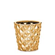 Cachepot em cerâmica dourado 07 cm