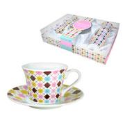 Jogo de xícaras para café Mosaico 12 peças