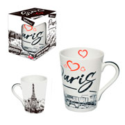 Caneca de ceramica muddy Paris 340 ml