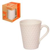 Caneca de cerâmica Net branca 320 ml