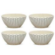Jogo de bowls corona Smartech hexagon 550 ml 04 peças