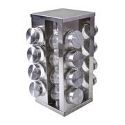 Porta condimentos giratório com suporte 16 peças