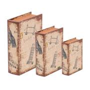 Jogo caixa livro London 03 peças