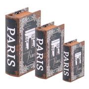 Jogo caixa livro Paris 03 peças