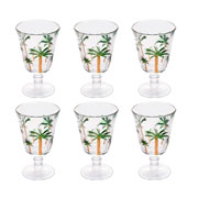 Jogo de taças de cristal palm 240 ml 06 peças