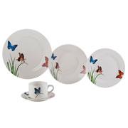 Jogo de jantar de porcelana Butterflies 20 peças