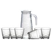 Conjunto jarra com copos Colméia 07 peças