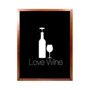 Porta rolhas de vinho Love Wine com fundo preto 42 cm