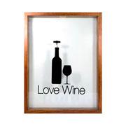 Porta rolhas de vinho Love wine com fundo branco 42 cm
