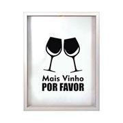 Porta rolhas de vinho Mais vinho com fundo branco 42 cm