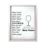 Porta rolhas de vinho Línguas com fundo branco 42 cm