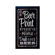 Porta tampas de cerveja quadro Point Beer 52 cm