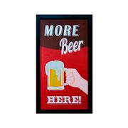 Porta tampas de cerveja quadro More Beer 52 cm