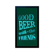 Porta tampas de cerveja quadro Good Beer 52 cm