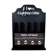Porta capsula Love Cappucino com base nespresso