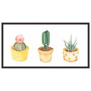Quadro decorativo preto Cactus 27x52,5 cm