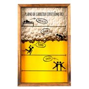Quadro porta tampinha de madeira plano 42x27 cm