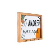 Quadro porta chave Amor 27x19 cm