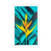 Quadro de madeira flor amarela II 55x35 cm
