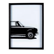 Quadro com vidro pintado Carro 31x41 cm