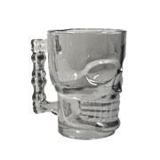 Caneca caveira de vidro black 500 ml