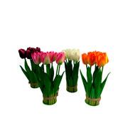 Enfeite de flor artificial colors 22 cm