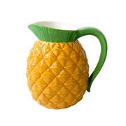 Jarra de cerâmica Pineapple Amarela/verde