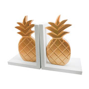 Aparador de livros madeira Gold abacaxi 02 peças
