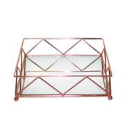 Bandeja de ferro quadrada Wire cobre 24,5 cm