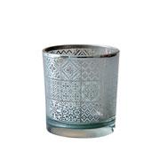 Castical de vidro prata 8 cm