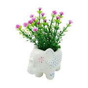 Mini cachepot de cerâmica Animals elefante 09x06 cm